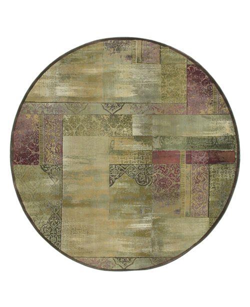 Oriental Weavers Round Area Rug, Generations 1527X Dreamscape 8'