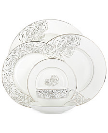 Monique Lhuillier Waterford Dinnerware, Sunday Rose 5 Piece Place Setting