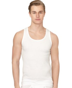 Men'S Classic Ribbed Tank 3-Pack Nm9070 in White