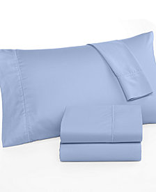 CLOSEOUT! Martha Stewart Collection Queen Open Stock Flat Sheet, 300 Thread Count 100% Cotton, Created for Macy's