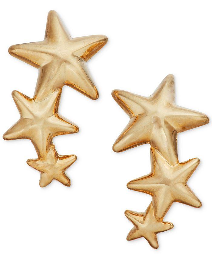 Macy's - Triple Star Stud Earrings in 14k Gold