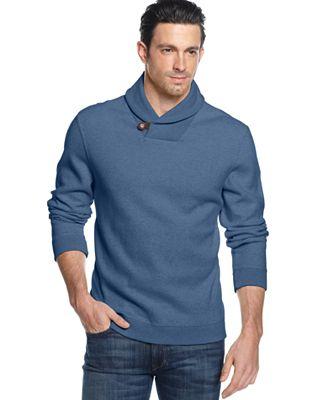 Tasso Elba Shawl Collar Sweater - Sweaters - Men - Macy's