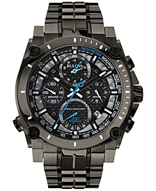 Men's Chronograph Precisionist Gray-Tone Stainless Steel Bracelet Watch 47mm 98B229