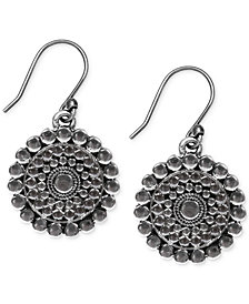 Lucky Brand Silver-Tone Tribal Drop Earrings