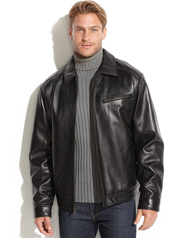 Boston Harbour Smooth Leather Bomber Jacket - Coats & Jackets ...