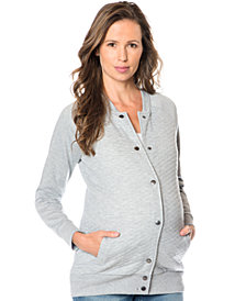 A Pea In The Pod Maternity Quilted French-Terry Jacket