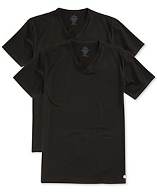 Men's Big and Tall Cotton Classics V-Neck