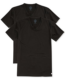 Calvin Klein Men's Big and Tall Cotton Classics V-Neck