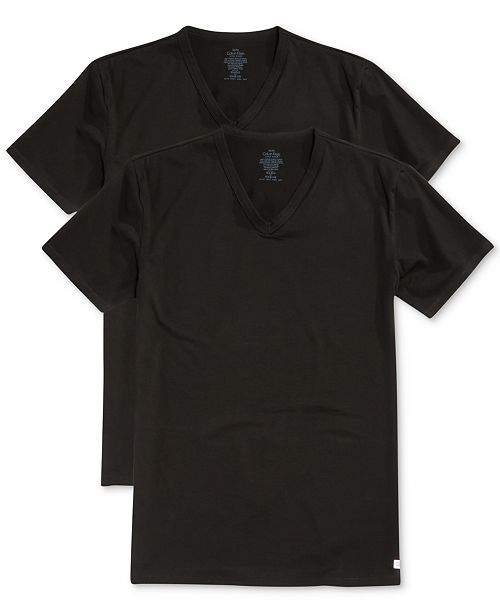 b9e93d11 Men's Stretch Cotton V-Neck Undershirt 2-Pack