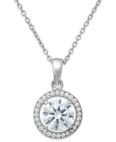Giani bernini cubic zirconia halo pendant necklace in sterling giani bernini cubic zirconia halo pendant necklace in sterling silver or 18k gold over sterling silver aloadofball Gallery