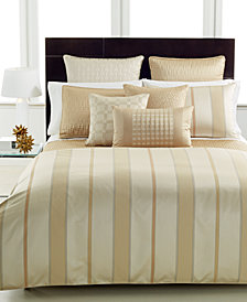 CLOSEOUT! Hotel Collection  Regal Stripe King Comforter