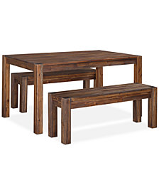 "Avondale 3-Pc. Dining Room Set, Created for Macy's,  (60"" Table & 2 Benches)"