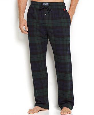 Polo Ralph Lauren Men S Plaid Flannel Pajama Pants Pajamas Lounge