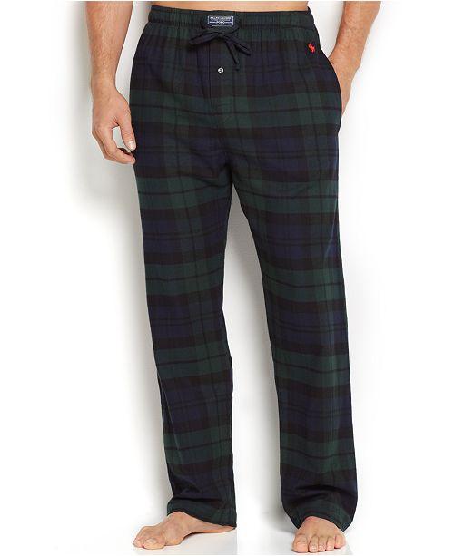 fa7ec014 Polo Ralph Lauren Men's Plaid Flannel Pajama Pants & Reviews ...