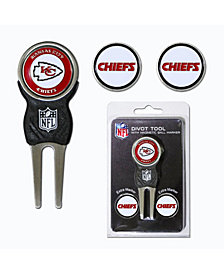 Team Golf Kansas City Chiefs Divot Tool and Markers Set