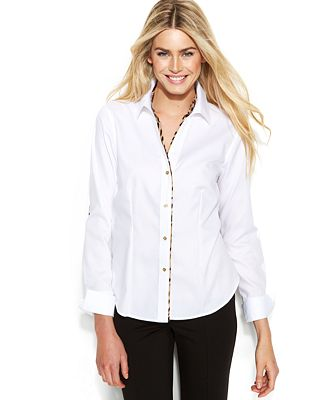 Macys Womens Long Sleeve Blouse 10