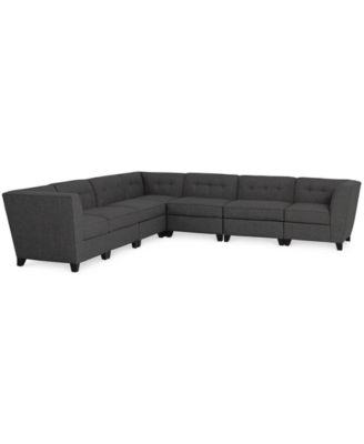 harper fabric 6piece modular sectional sofa created for macyu0027s