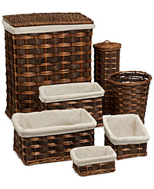 Honey Can Do 7-Piece Wicker Hamper & Basket Set