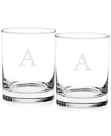 Monogram Double Old Fashioned Glasses, Set of 2