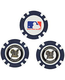 Team Golf Milwaukee Brewers 3-Pack Poker Chip Golf Markers