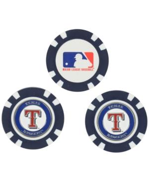 Team Golf Texas Rangers 3-Pack Poker Chip Golf Markers