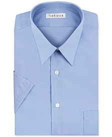 Poplin Solid Short-Sleeve Dress Shirt