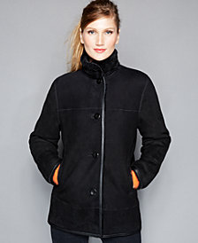 The Fur Vault Shearling Stand-Collar Jacket