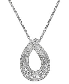 Arabella Swarovski Zirconia Pendant Necklace in Sterling Silver (1-1/4 ct. t.w.)