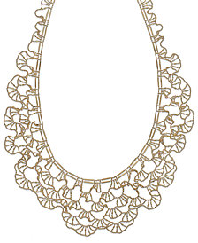 Diamond-Cut Bib Necklace in 14k Gold