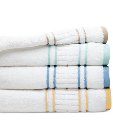 Martha Stewart Collection Plush Dobby Bath Towel Collection Only At Macy 39 S