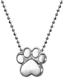 Little Activists by Paw Pendant Necklace in Sterling Silver