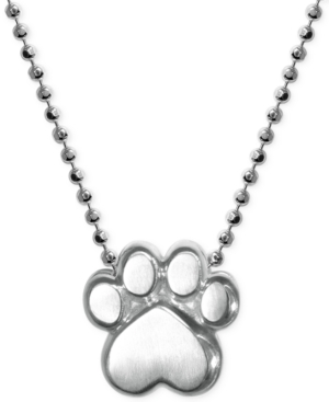 Paw Pendant Necklace in Sterling Silver