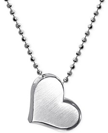 Little Princess by Heart Pendant Necklace in Sterling Silver