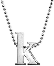 Little Letter by Initial Pendant Necklace in Sterling Silver
