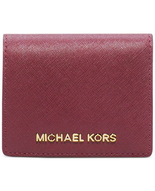 87f2c781bbe97f Michael Kors Jet Set Travel Flap Card Holder & Reviews - Handbags ...