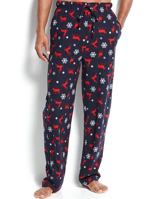 Club Room Men's Novelty Print Pajama Pants - Pajamas, Lounge ...