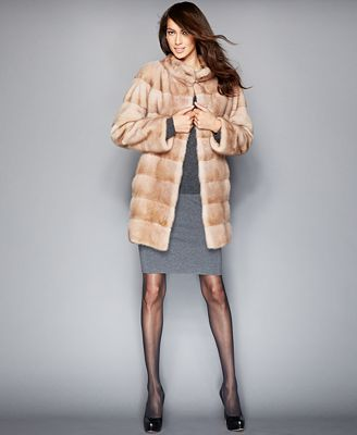The Fur Vault Three-Quarter-Length Mink Fur Coat - The Fur Vault