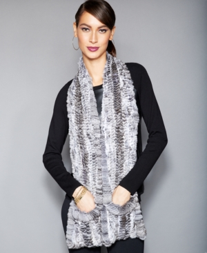 The Fur Vault Knitted Chinchilla Fur Scarf