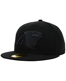 New Era Carolina Panthers NFL Black on Black 59FIFTY Cap