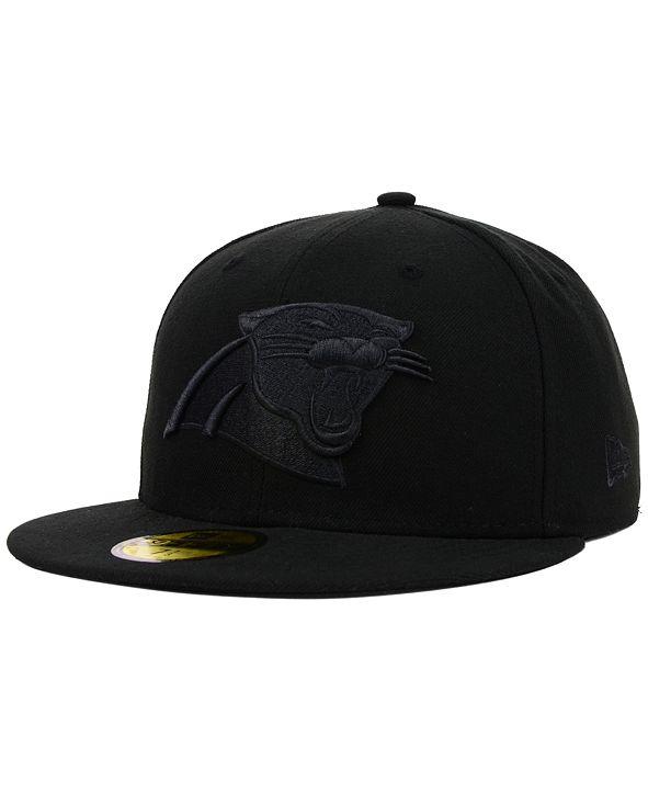 New Era Carolina Panthers NFL Black on Black 59FIFTY Cap