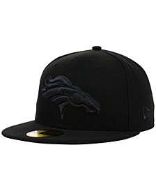 Denver Broncos NFL Black on Black 59FIFTY Fitted Cap