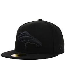 New Era Denver Broncos NFL Black on Black 59FIFTY Fitted Cap