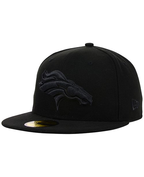 9fcc098a Denver Broncos NFL Black on Black 59FIFTY Fitted Cap