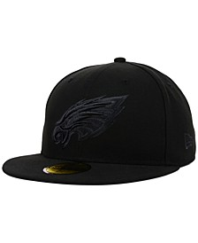 Philadelphia Eagles NFL Black on Black 59FIFTY Fitted Cap