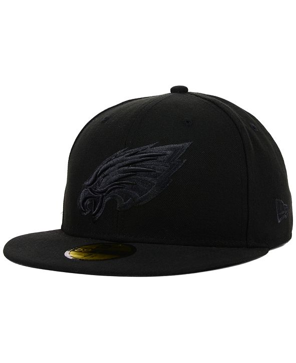 New Era Philadelphia Eagles NFL Black on Black 59FIFTY Fitted Cap