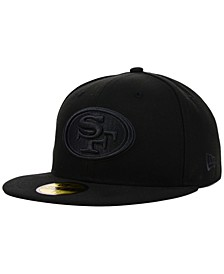 San Francisco 49ers NFL Black on Black 59FIFTY Fitted Cap