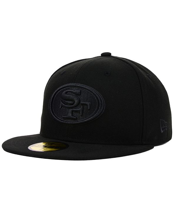 New Era San Francisco 49ers NFL Black on Black 59FIFTY Fitted Cap
