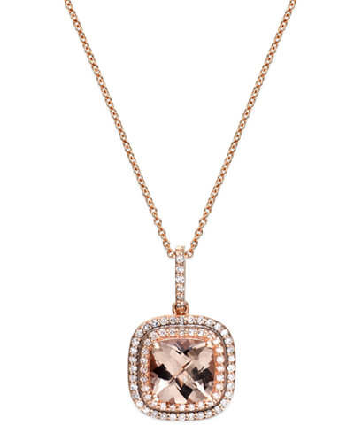 Blush by effy morganite 1 34 ct tw and diamond 14 ct tw main picture aloadofball Choice Image