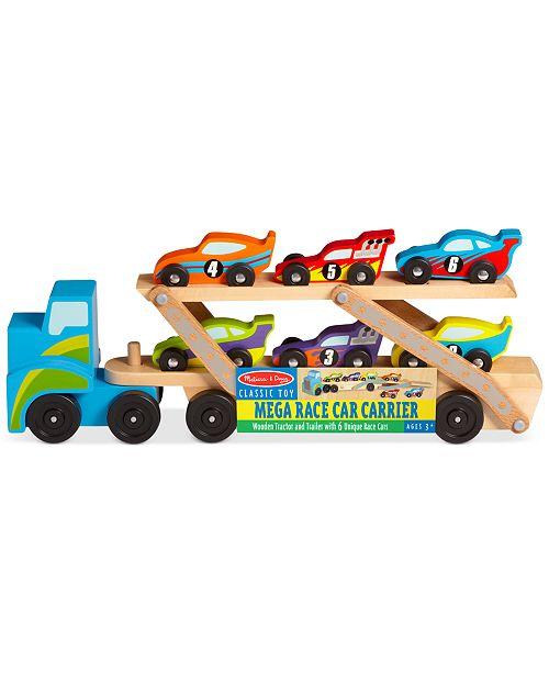 Melissa and Doug Kids' Mega Race-Car Carrier Toy