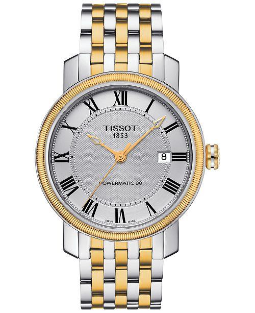 Tissot Men's Swiss Automatic Bridgeport Two-Tone Stainless Steel Bracelet Watch 40mm T0974072203300